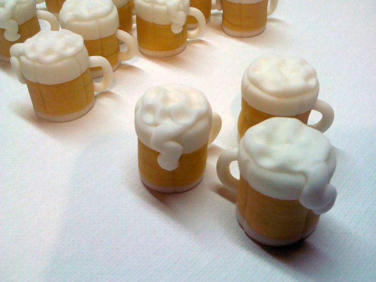 Beer Mugs Edible Fondant Cupcake Toppers Beer Mugs