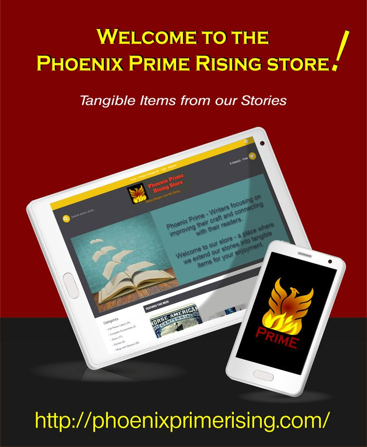 Taking the next step to extend stories into tangible forms - from the #PhoenixPrime writers! Mugs and puzzles, totes and more! Fun things to wear and use, with more each day! http://PhoenixPrimeRising.com #indieauthor