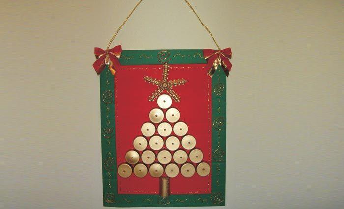 Árvore de Natal com Tampinhas – Tinta Acrílica Acrilex
