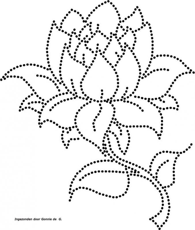Flower Stitching Card Template. Would be a great pattern for string art