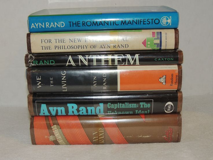 Fountainhead Anthem Capitalism + Collection 6 Classic Ayn Rand Hard Cover Books