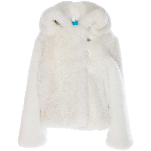 Wanda Nylon Shearling Coat (60.020 ARS) ❤ liked on Polyvore featuring outerwear, coats, white, sheep fur coat, nylon coat, shearling coat, marco de vincenzo and long sleeve coat