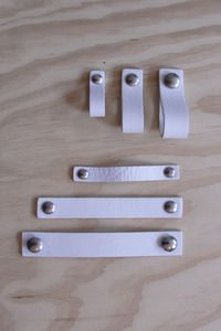Nu interieur|ontwerp leather Handle white