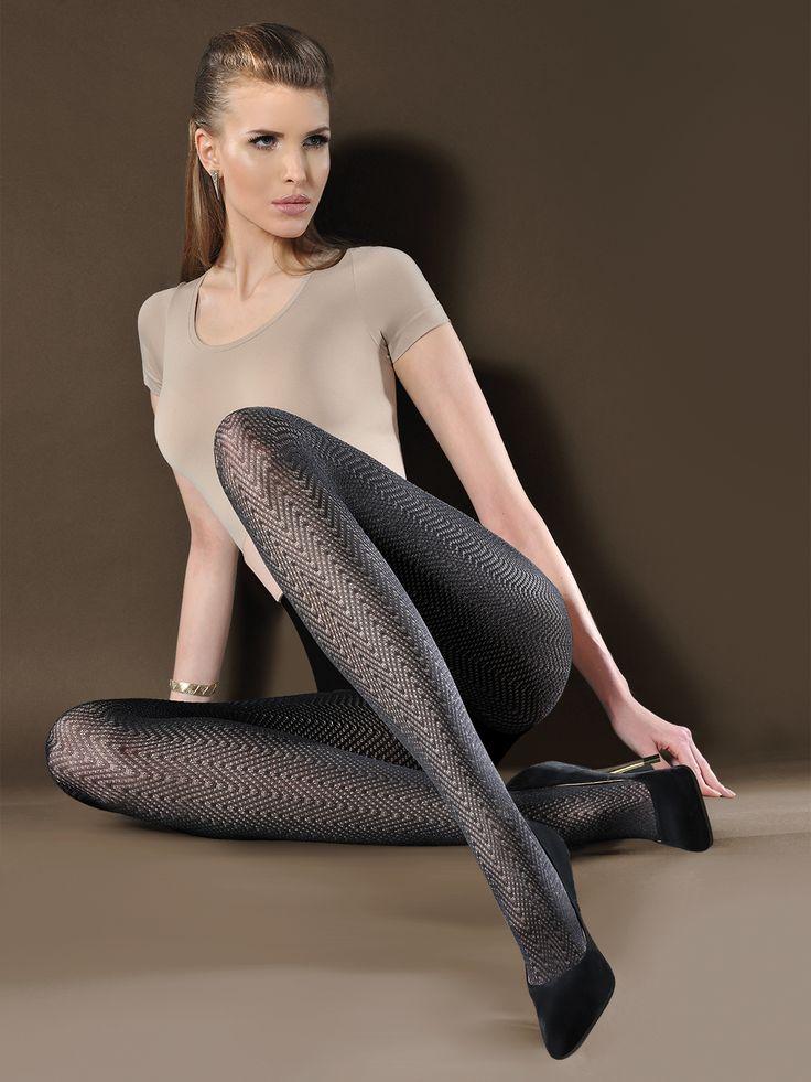 40 denové vzorované pančuchy Gabriella Gaya.  Exkluzívne 3D vzorované pančuchové nohavice od Gabriella, Gaya 40den.