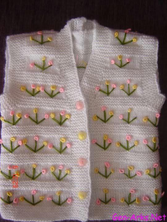 Renkli çiçek işlemeli yelek tarifi - Kadınların Sayfası
