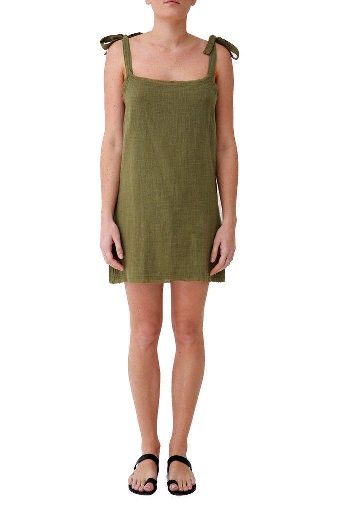 Lucca Mini Dress - Khaki – Hope & May