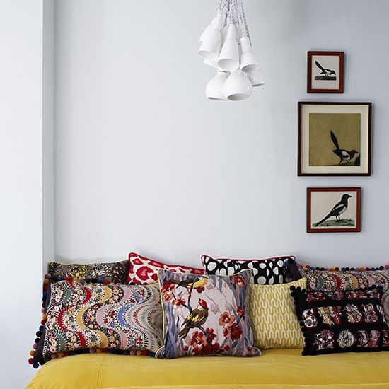 A cornucopia of colors and patterns makes this so inviting...