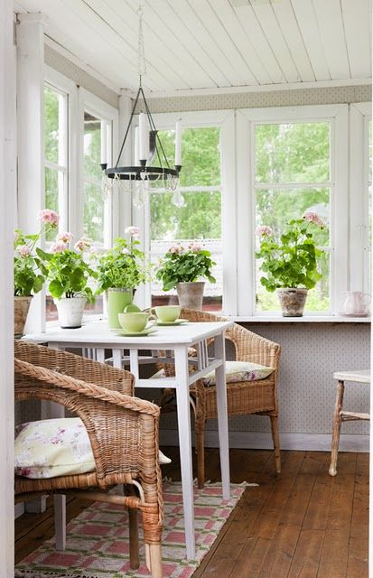 Swedish sunroom.
