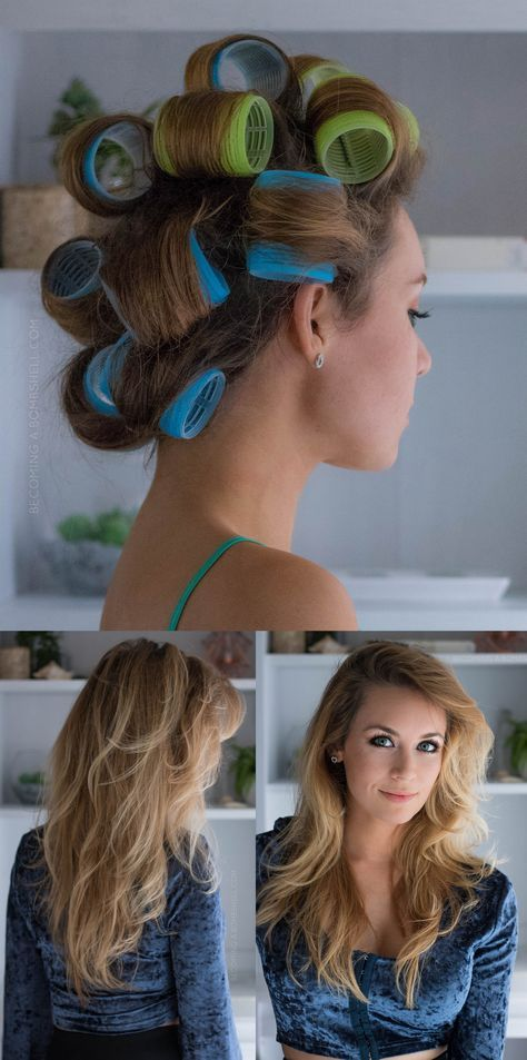 BOMBSHELL CURLS with VELCRO ROLLERS Velcro rollers are worth the extra step to get curls like a Victoria's Secret Model. Velcro Rollers are especially wonderful for those that appreciate heat-free hair styling. Rolling these up as a wet-set with a bit of setting spray will produce the same long lasting results with no damaging heat, making this hairstyle a good option for damaged or fine hair and will give new life to your tresses with beautiful Bombshell curls. How to use Velcro Roller for…