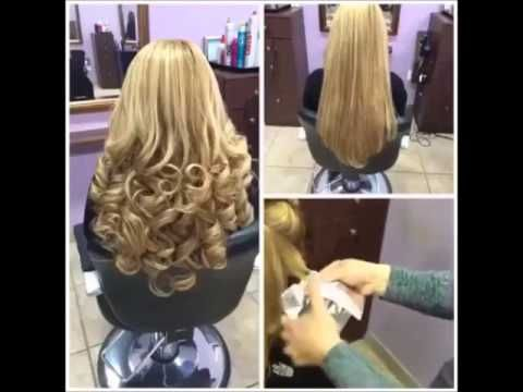 How To Curl Hair Using A Straightener and Aluminum Foil - YouTube