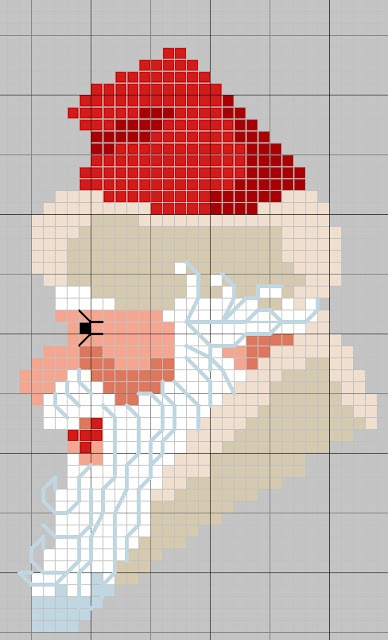 Free Santa Cross Stitch Pattern:  BON NOEL