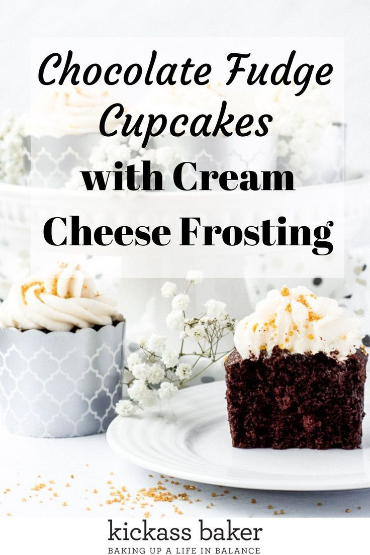 Sour Cream Chocolate Fudge Cupcakes With Cream Cheese Frosting Kickass Baker Recipe Chocolate Fudge Cupcakes Chocolate Fudge Cupcakes With Cream Cheese Frosting