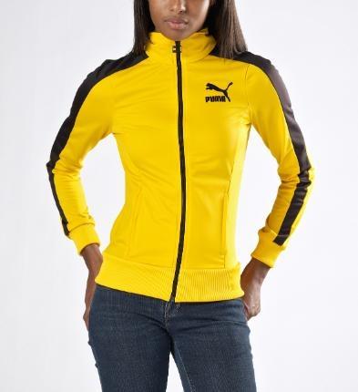 puma jacket womens yellow