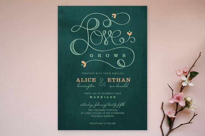 愛はAspacia Henspettによって結婚式の招待を育て... |鋳造