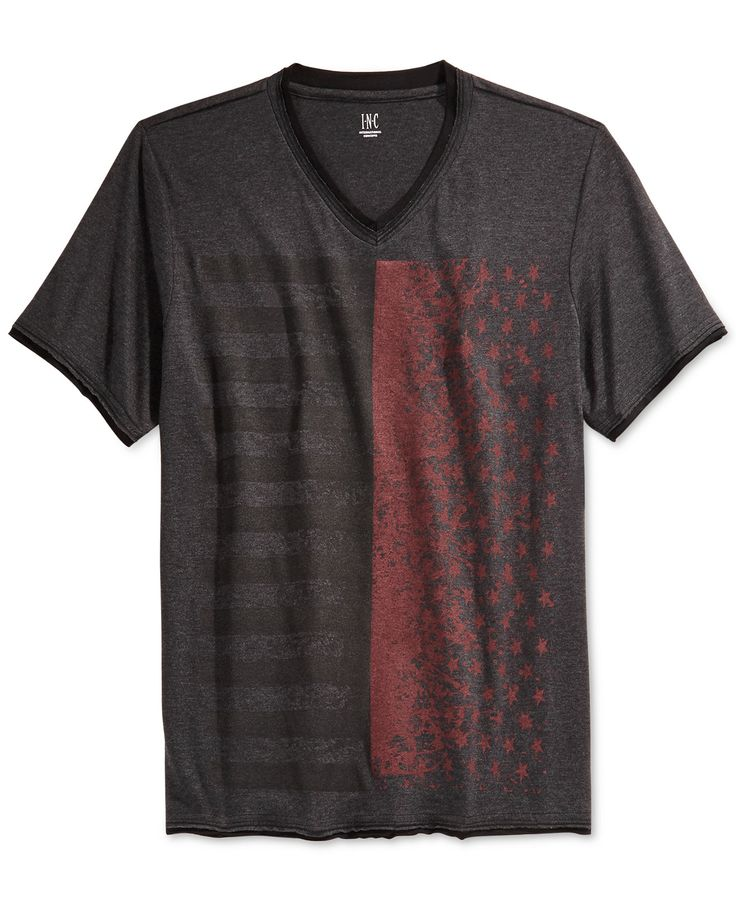 INC International Concepts Graphic V-Neck T-Shirt, Only at Macy's - T-Shirts - Men - Macy's