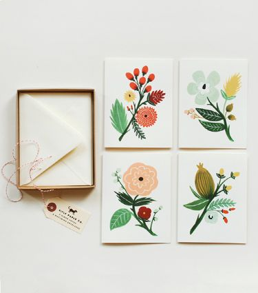 flower card set : Cards Sets, Gifts Cards, Rifles Paper, Flowers Prints, Botanical Cards, Cards Boxes, Rifle Paper Co, Riflepaper, Anna Bond