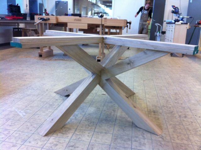 Onderstel Ronde Tafel : Onderstel van onze ronde tafel houtactief procesfoto s