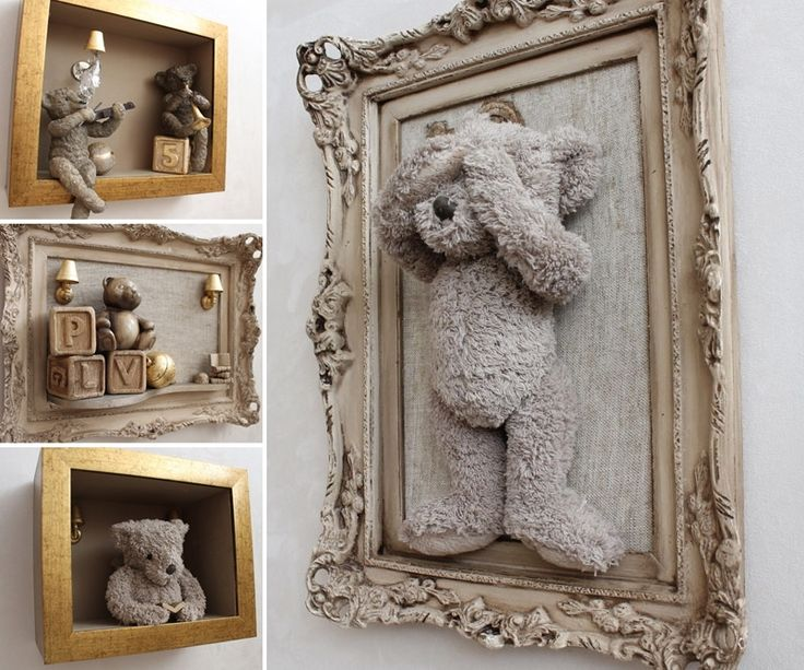 This Framed Teddy Bear Idea is Just Superb for a Nursery - http://www.amazinginteriordesign.com/this-framed-teddy-bear-idea-is-just-superb-for-a-nursery/