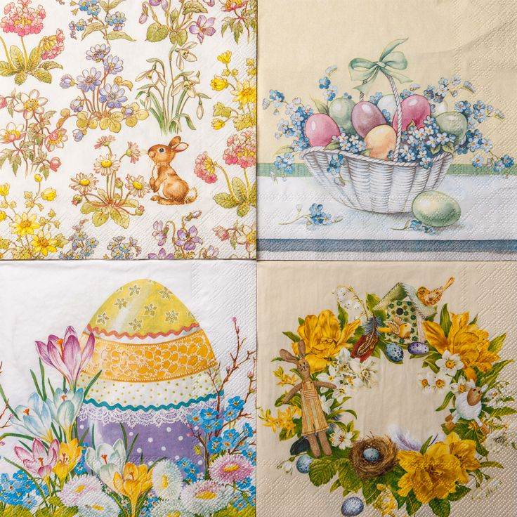Wide Variety of Napkin designs - which one is for you? EXPLORE the new collection of easter napkins