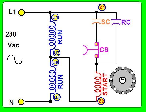 Coparoman Motor Monofásico Con 2 Capacitores Motores Esquemas Electricos Electricidad Y Electronica