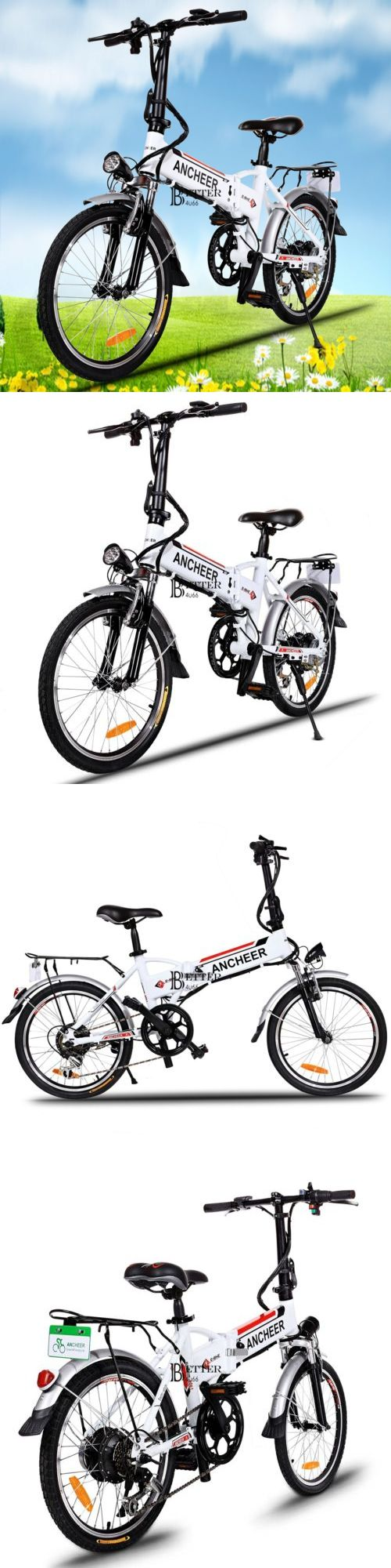 Electric Bicycles 74469: Newest Electric Folding Mountain Bike Cycling Bicycle Men Lithium Powered White BUY IT NOW ONLY: $524.4