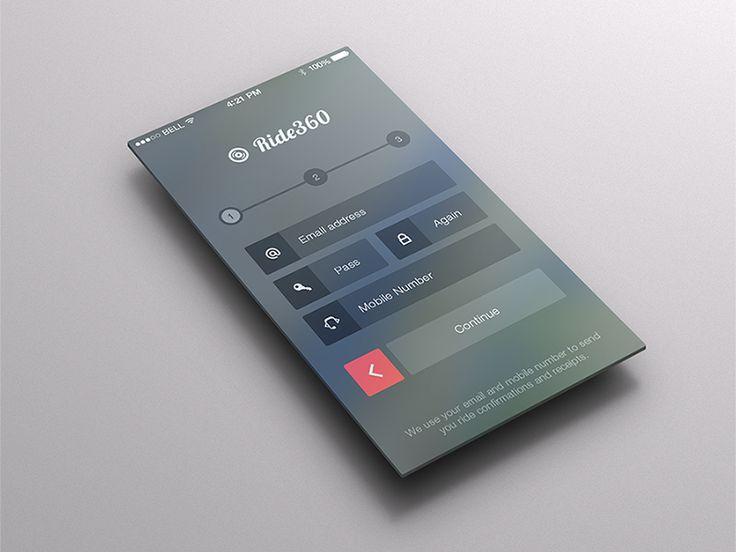 iOS7 Style Sign-Up Page by Kushagra Agarwal (Jaipur, India)