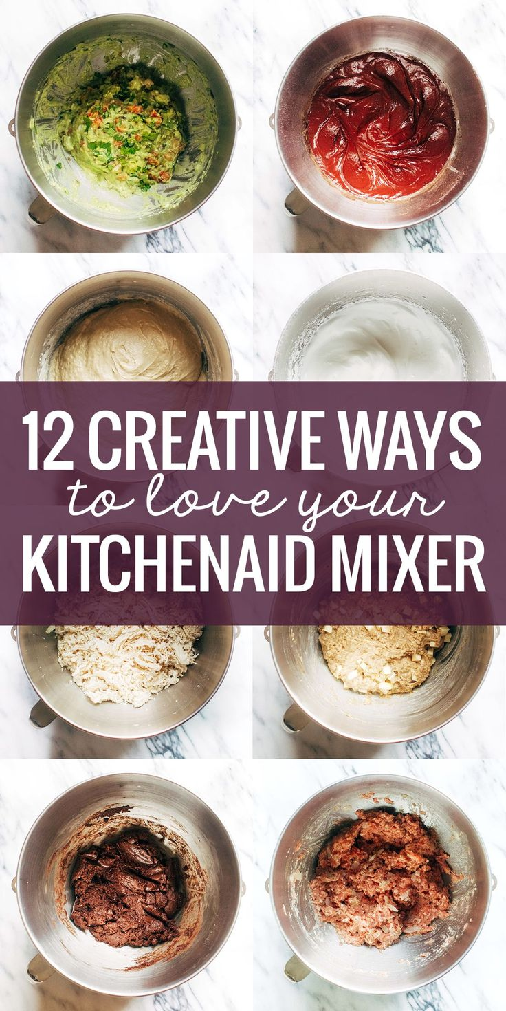 12 Creative Ways to Use a KitchenAid Mixer, from bread to guacamole to shredded meat and more!