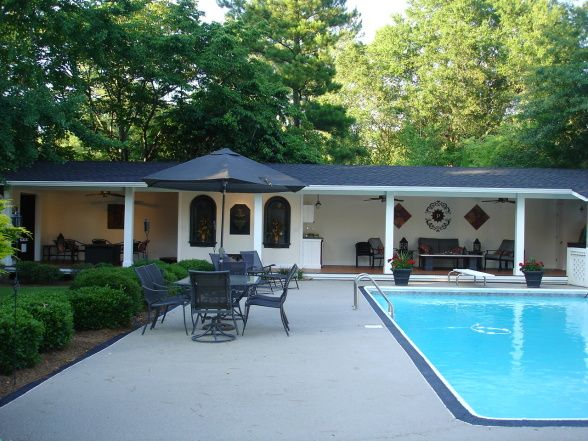 pool cabana ideas pool cabana pool seating area offers shade and relaxation homeowner