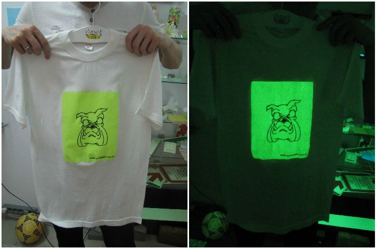Стильные светящиеся принты на футболках. Светящаяся краска для печати на текстиле - AcmeLight Textile **** Stylish luminous prints on T-shirts. Luminescent paint for printing on textiles - AcmeLight Textile #luminous #prints #T-shirts #textile #светящаяся #краска #футболках