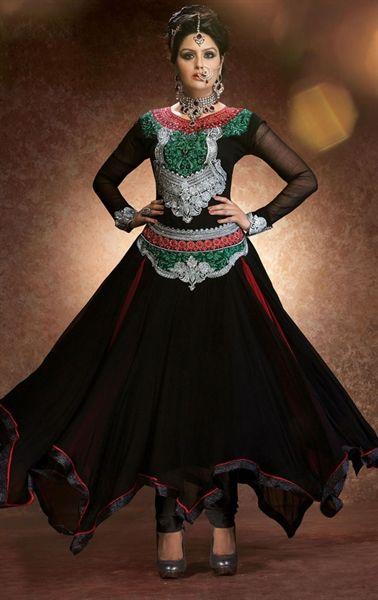 Picture of Dazzling Black Color Fashion Designer Suit