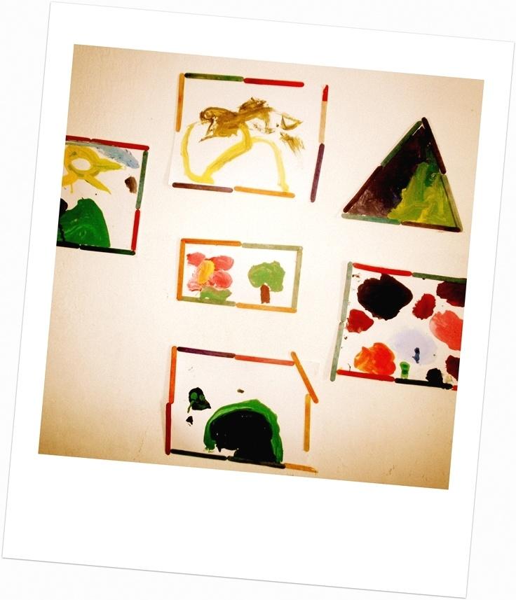 Pinturas que ha hecho Jr. a sus 3.8 años :)