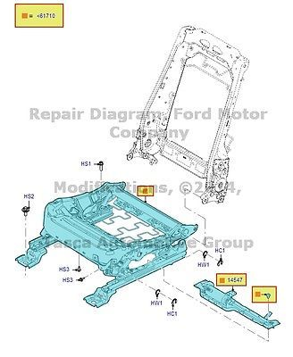 NEW-OEM-LH-FRONT-SEAT-TRACK-ASSEMBLY-2010-2012-FORD-TAURUS-2010-2012-LINCOLN-MKS
