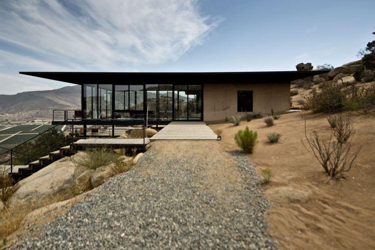 #outdoor #exterior #outside #landscape #concrete #desert #modern #glass #home #stairs #window #Baja #California #GraciaStudio