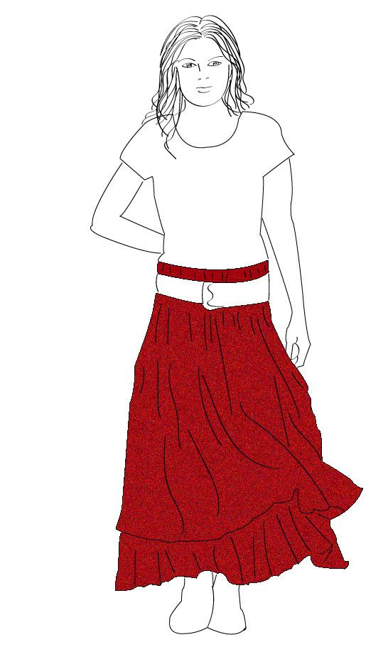 An easy to make layered skirt to round of your Boho look.