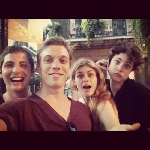The cast of Percy Jackson: Sea of Monsters! Logan Lerman, Jake Abel, Alexandra Daddario, & Douglas Smith