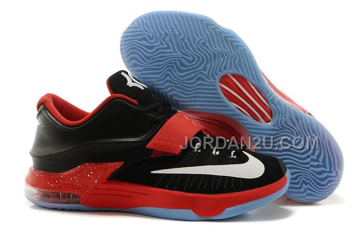 new concept 63508 c4cfd Cheap Nike KD 7 Black Red White