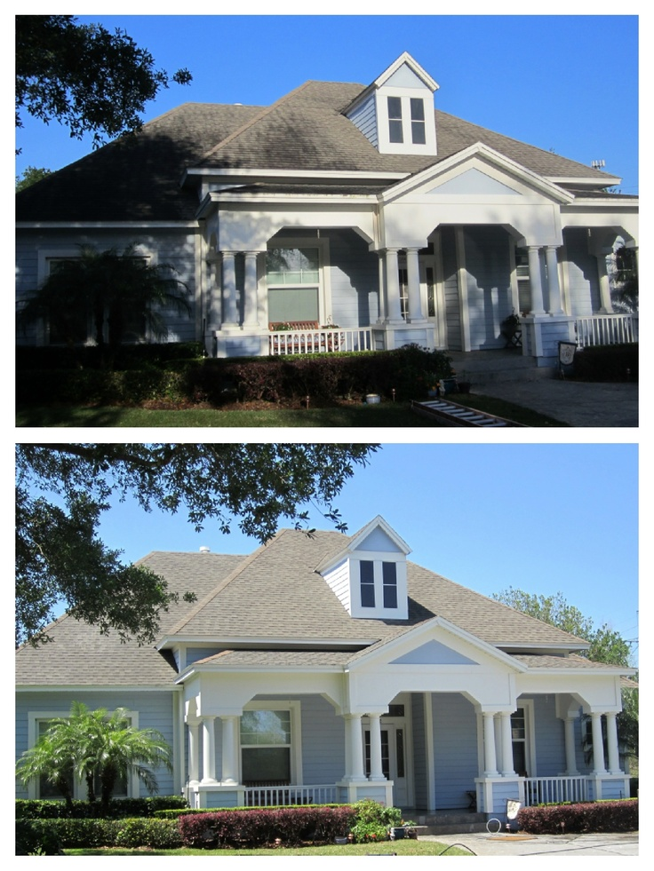 We Did A No Pressure Roof Cleaning Then A Good Pressure Cleaning On  Everything Else.