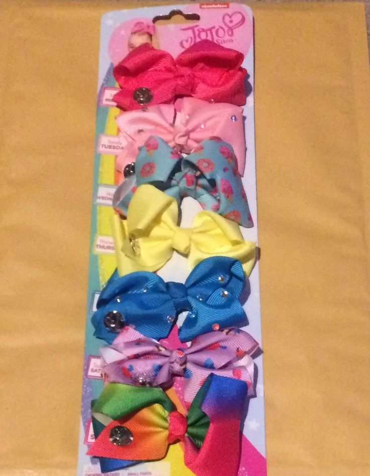 Jojo Siwa 7 Pack!! 7 X 8cm Bows!! - New On Card in Clothes, Shoes & Accessories, Kids' Clothes, Shoes & Accs., Girls' Accessories | eBay!