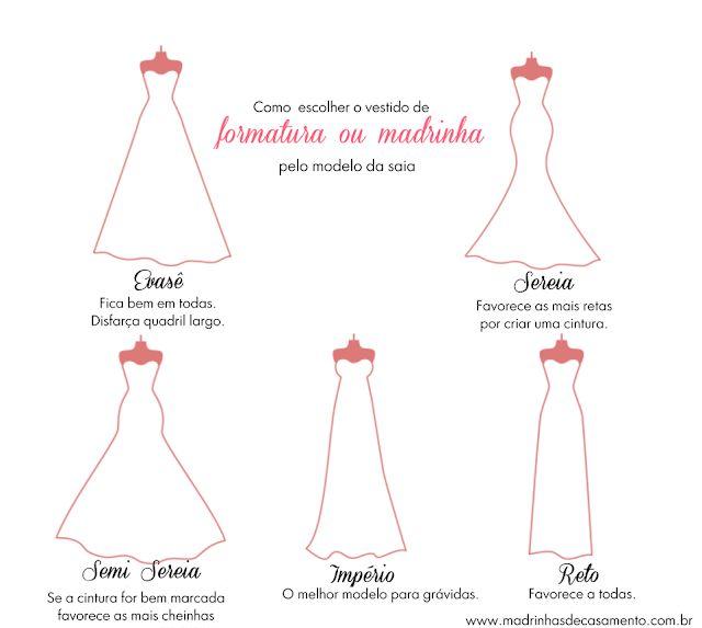Como escolher o modelo de vestido de festa por modelo de saia   – Fátima Noivas