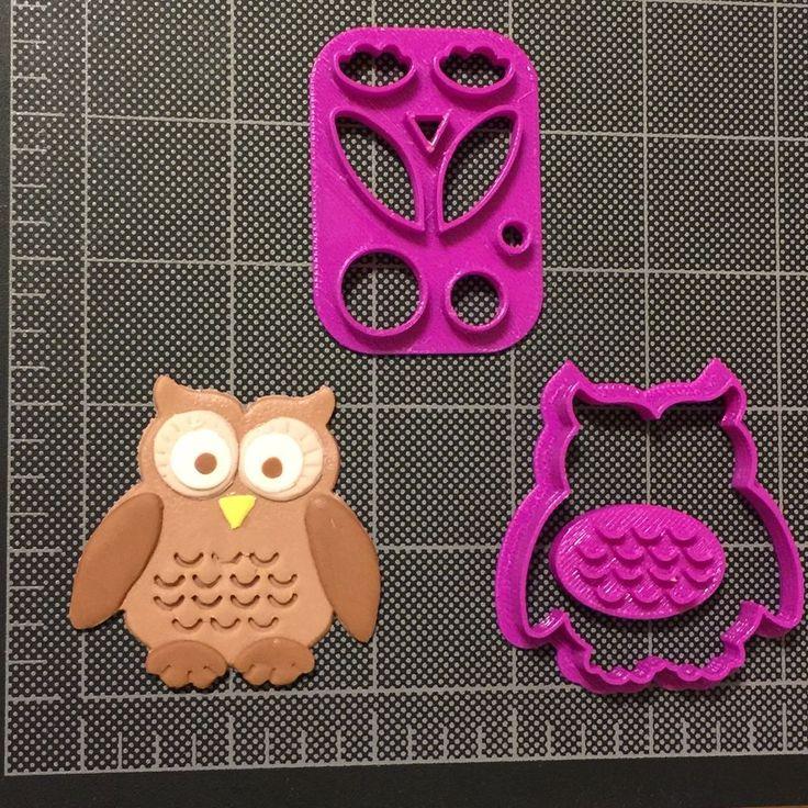 Owl Cookie Cutter / Owl Fondant Cutter / Owl Cupcake Topper / Owl Cookie Topper