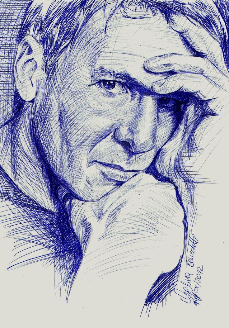 Harrison Ford Ballpoint Pen by AngelinaBenedetti.deviantart.com on @deviantART