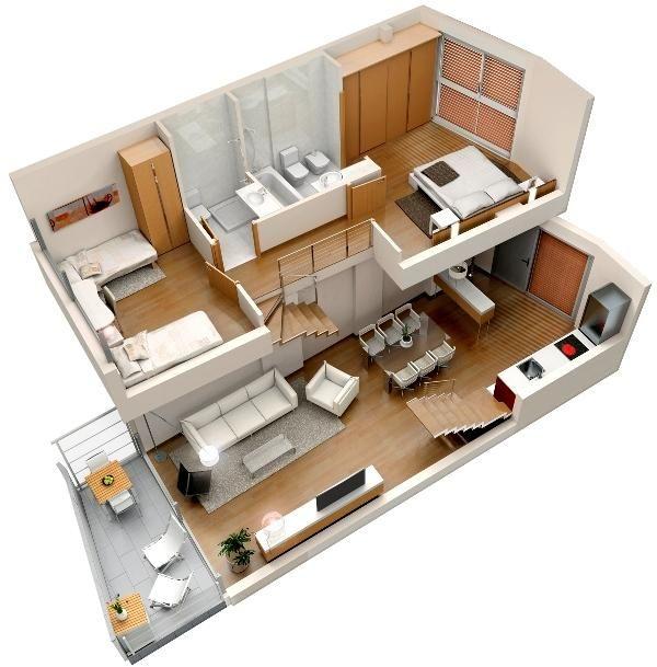 planos de casas de dos pisos sencillas autocad