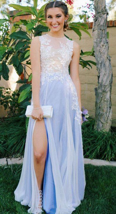 Prom Dresses,light sky blue Prom Dresses, 2017 Prom