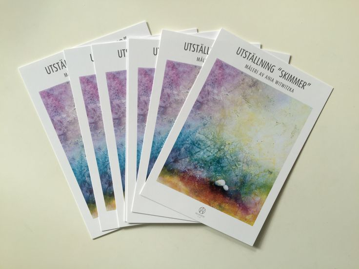 Invites for exhibition at Gallery and More, Gothenburg