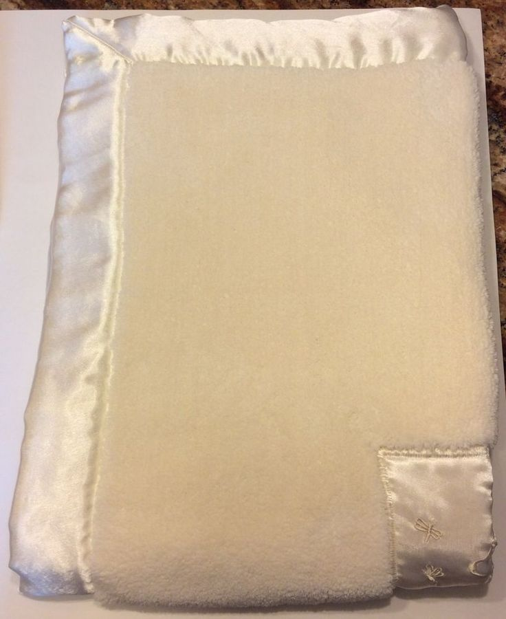Lovey Classic Pooh Bear Ivory White Baby Security Blanket