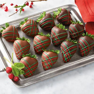 holiday chocolate dipped strawberries chocolate dipped fruit gifts harry david holidaygift - Christmas Chocolate Covered Strawberries