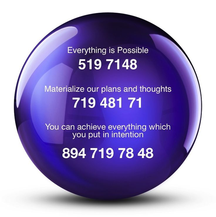 I've had much success with 894 719 78 48. The technique is to mentally visualize the numbers in a sphere / cone / ball while at the same time focusing on a specific concise intention. Grabovoi has daily lessons to help learn the technique. Some people have great success using the numbers without applying the recommended methods. Believing is the most important requirement.