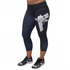 GUN STRAPPED LEGGINGS! These are the absolute most badass leggings ever! Awesome workout leggings and capris for fit ladies!