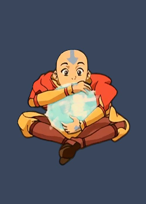 Aang now floats in my board. Let me just say I always wanted to just play around with his airbending. It looks so cool!