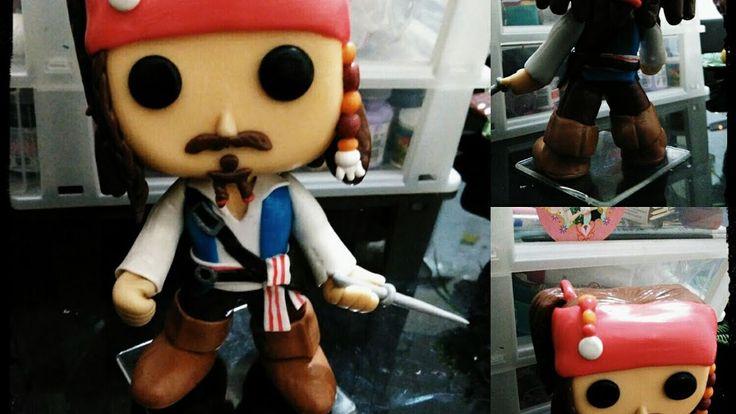 Funko pop em Biscuit - Capitão Jack Sparrow....faça o seu!